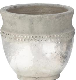"""Tripar Vase céramic Argent  hauteur 8"""""""