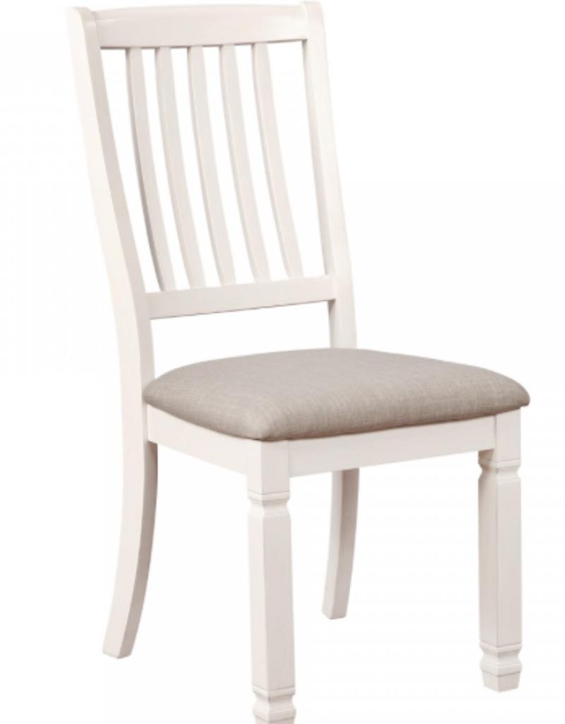 Chaise blanc antique