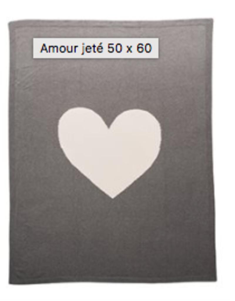 """Jeté Amour 50""""x60"""""""