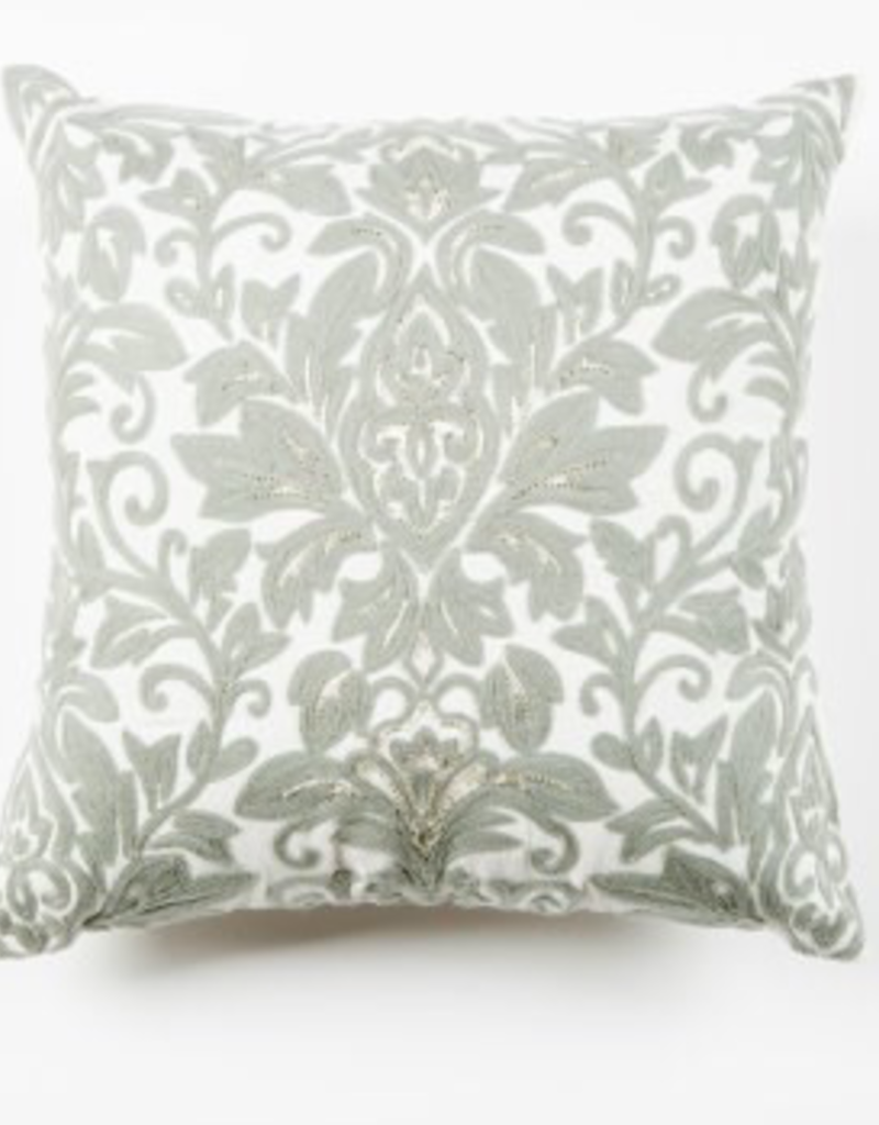"""Coussin Damask Gris 17"""""""