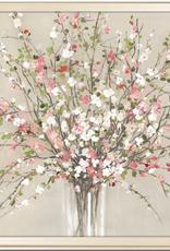 "Toile peach blossom 36""x36"""