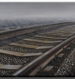 "Toile rail de chemin fer 32"" x 71"""