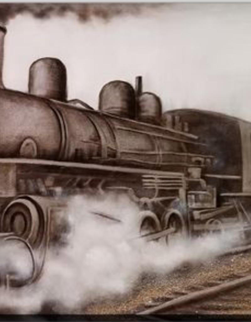 """Toile train sur chemin de fer 32"""" x 71"""""""