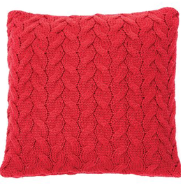 """Coussin Rudolph rouge 18"""" x 18"""""""