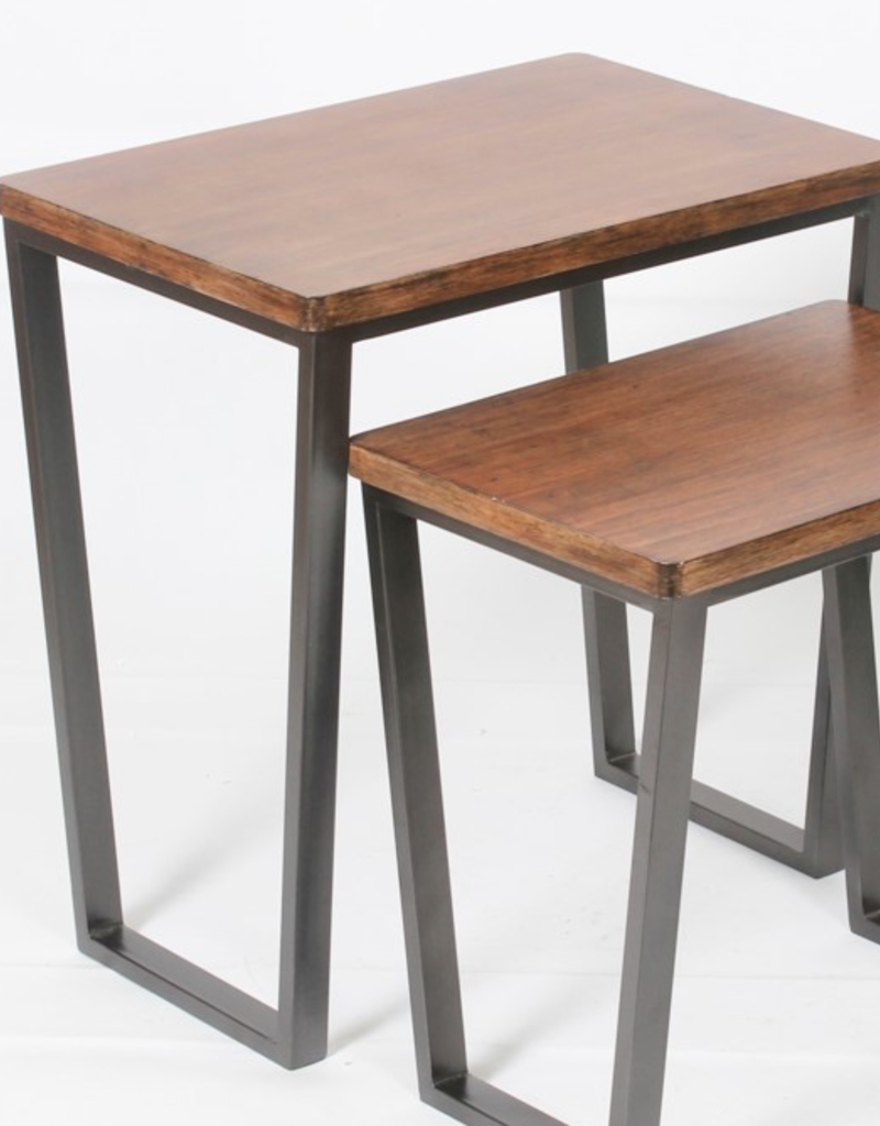"Table NANNA Wooden H21"" 19""x13.5"""