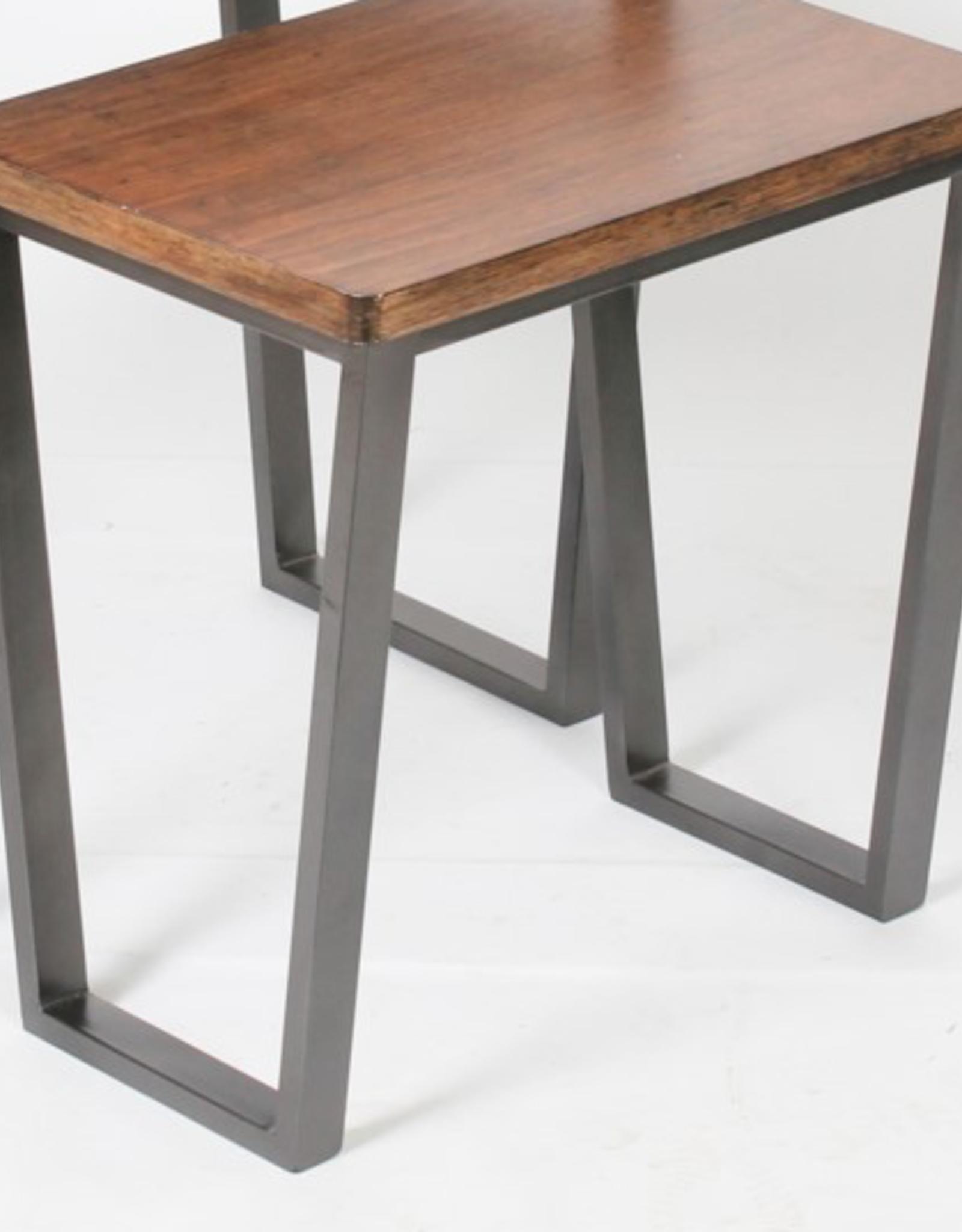 "Table NANNA Wooden H17""  12"" x 16.5"""