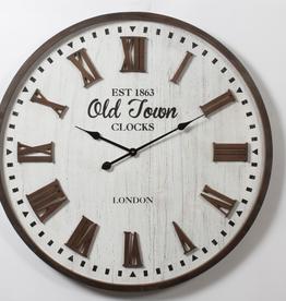 """Horloge en bois """"EST 1863 Old Town 31"""""""