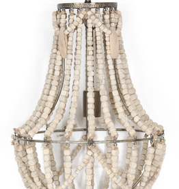 Lampe suspendue  billes de bois