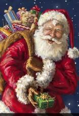 """Toile DEL Père Noël avec cadeaux 30"""" X 30"""""""