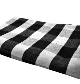 """Nappe Chalet chic noire et blanc       60""""x108"""""""