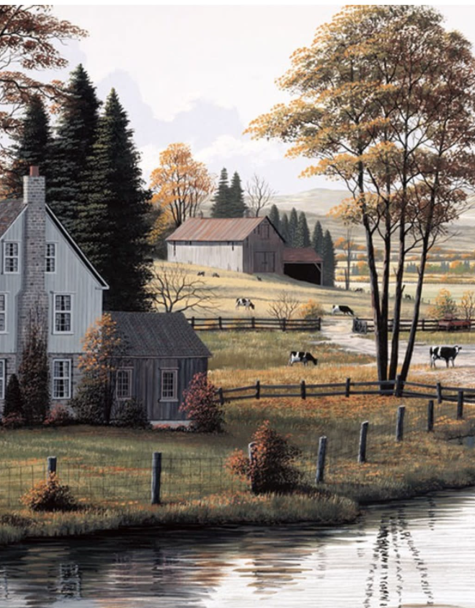 """Toile campagne d'automne 38"""" x 60"""""""