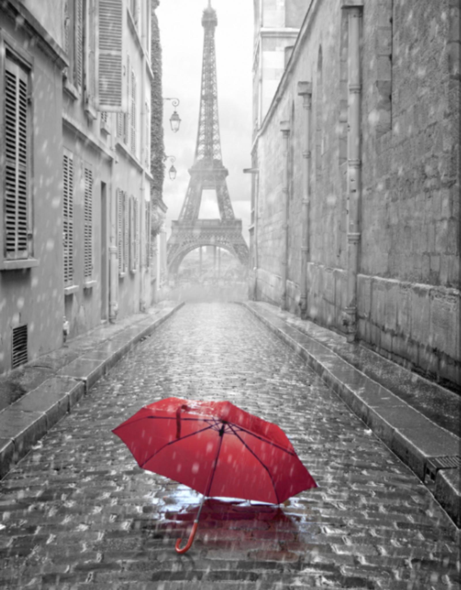 """Toile Tour Eiffel parapluie rouge 38"""" x 60"""""""