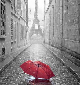 """Streamline Toile Tour Eiffel parapluie rouge 38"""" x 60"""""""