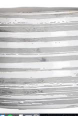 "Pot gris/blanc 5"" h A"