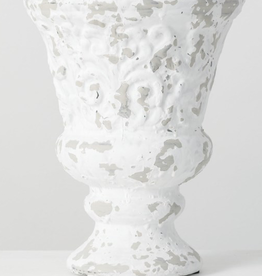 "Vase terracota blanc 11"""