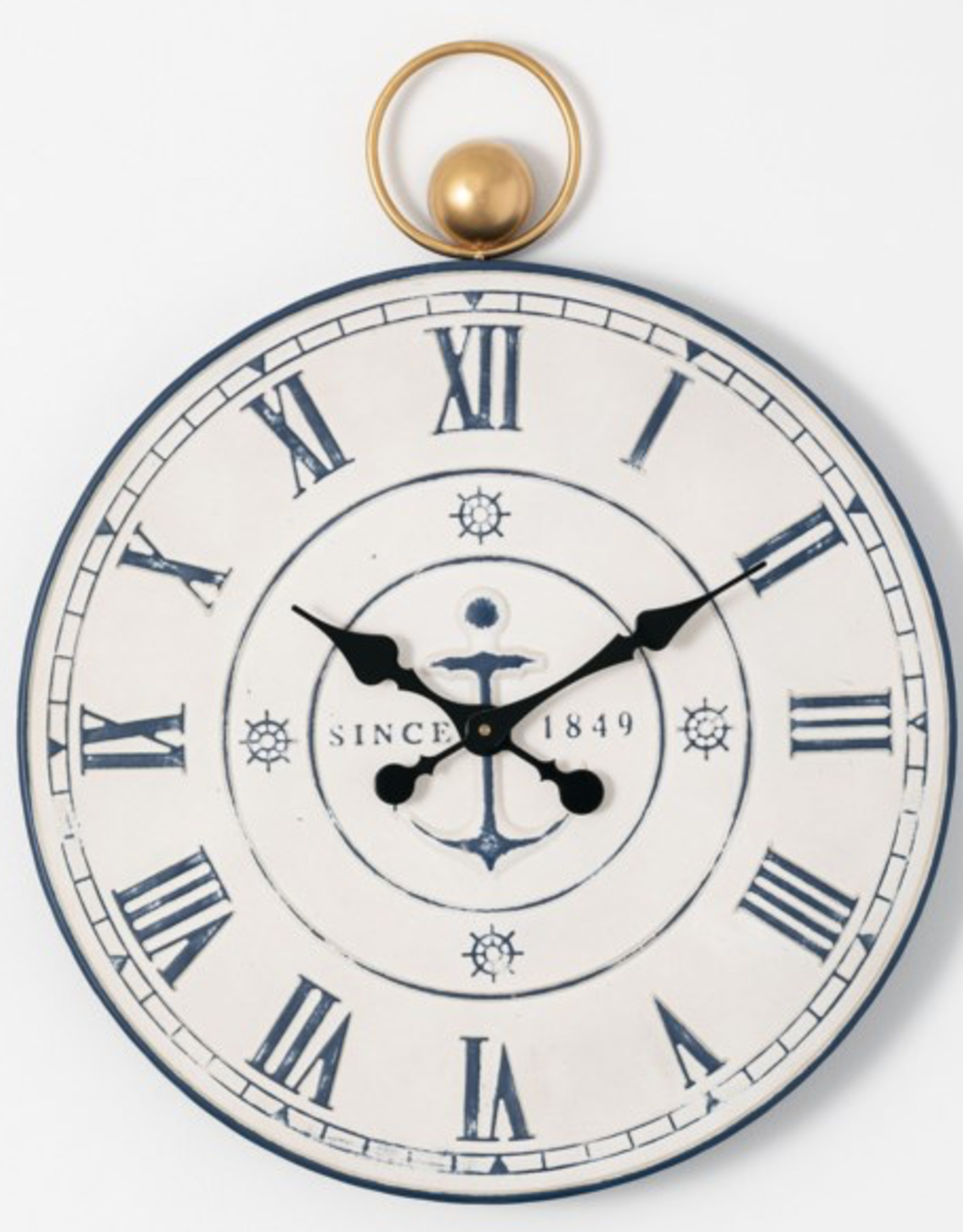 "Horloge métal marine 23"""