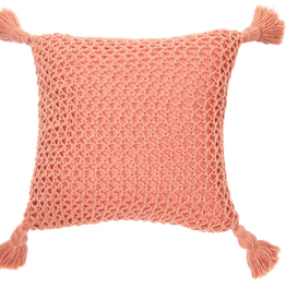 "Coussin Shiva corail 20"" x 20"""