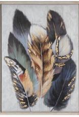 """Peinture sur bois Plume coloré 36"""" x 48"""""""