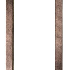 """Miroir en peau de vache grise 24"""" x 36"""