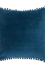 Brunelli Coussin velvet bleu 20X20