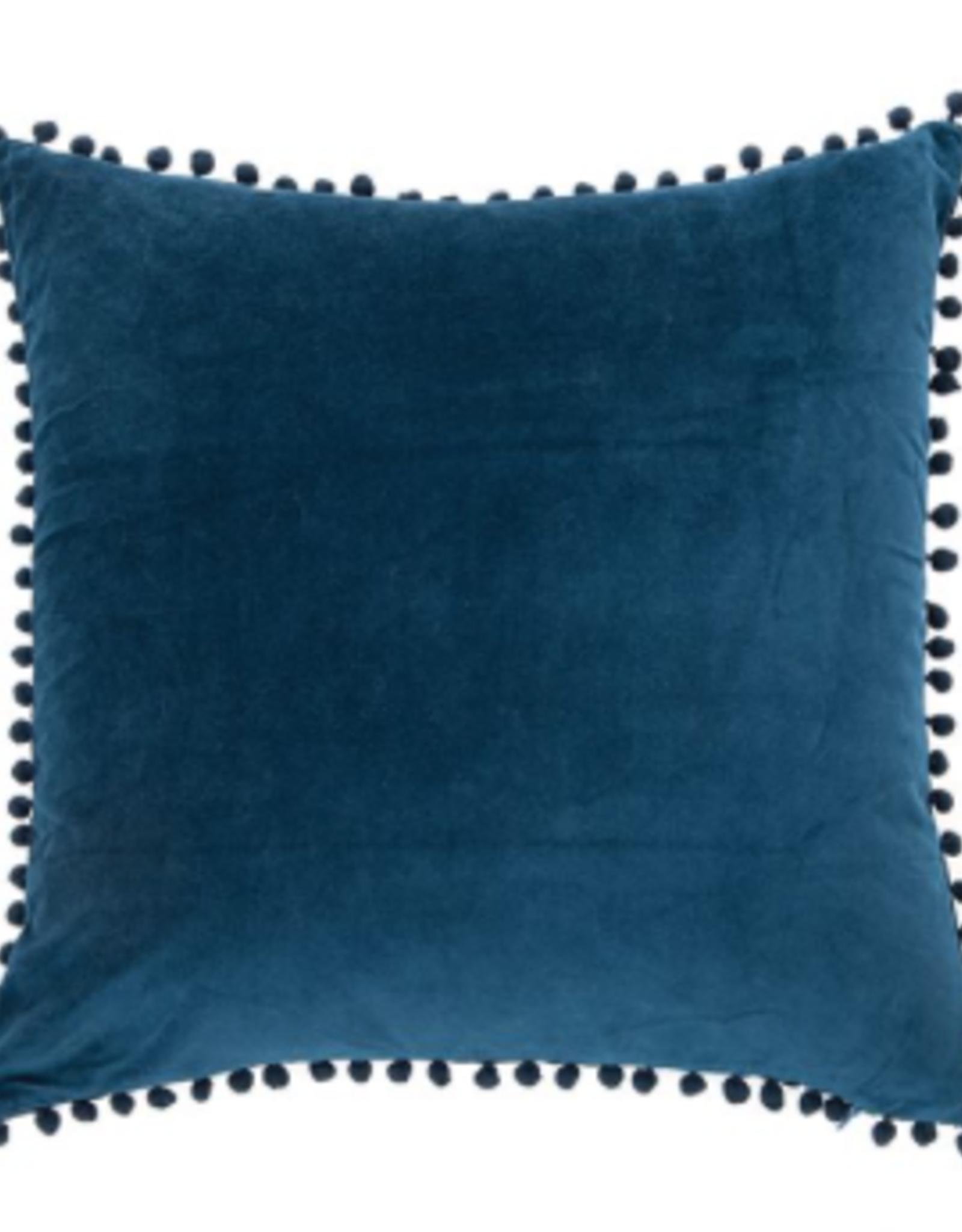 Coussin velvet bleu 20X20