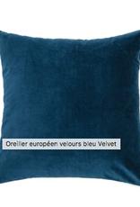 Brunelli Coussin velvet bleu européen 25X25