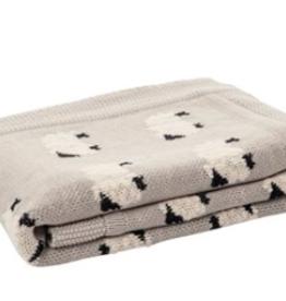 Mouton couverture bébé                         32 x 40