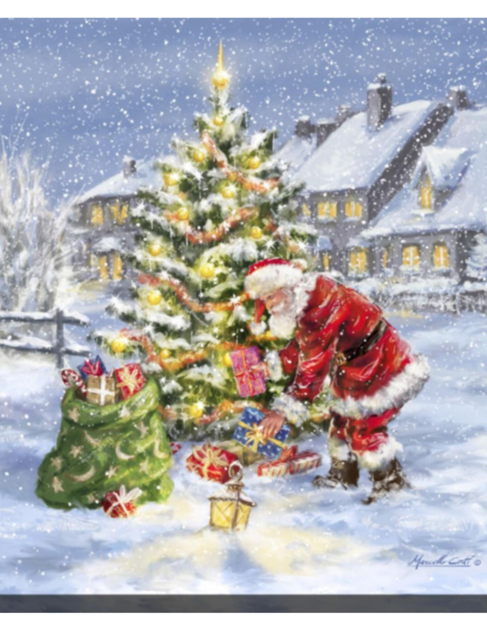 """Toile DEL du sapin de Noël sur la place 30"""" X 30"""""""