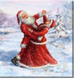 """Toile DEL Père Noël et Mère Noël 12"""" X 12"""""""