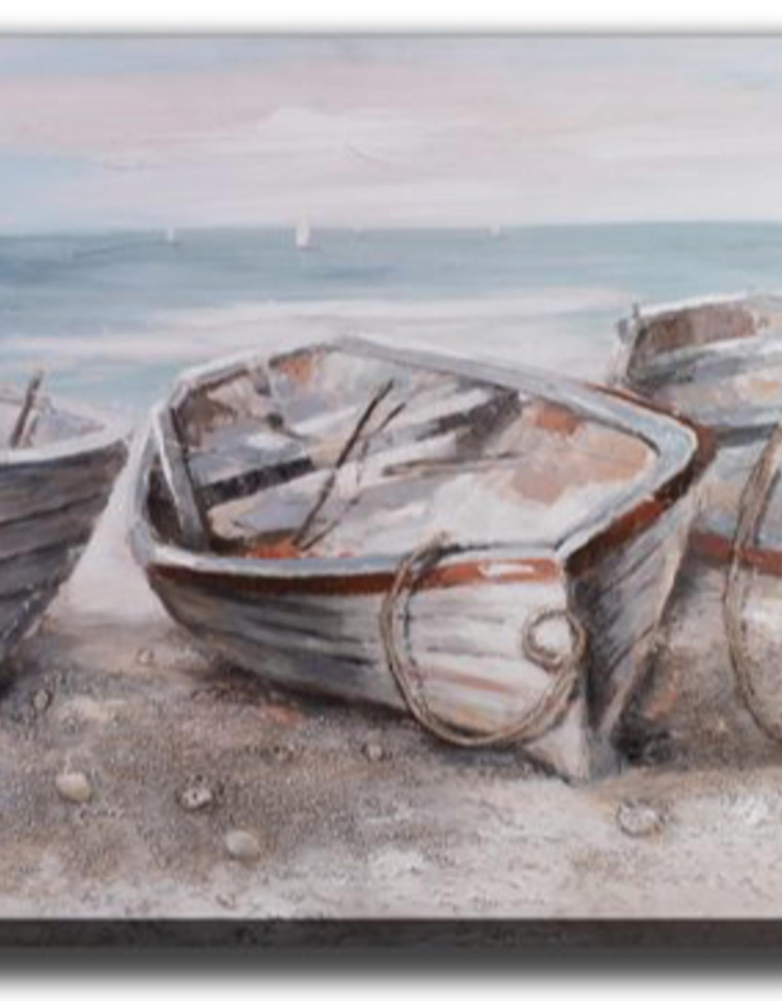 Toile trois bateaux 28X56