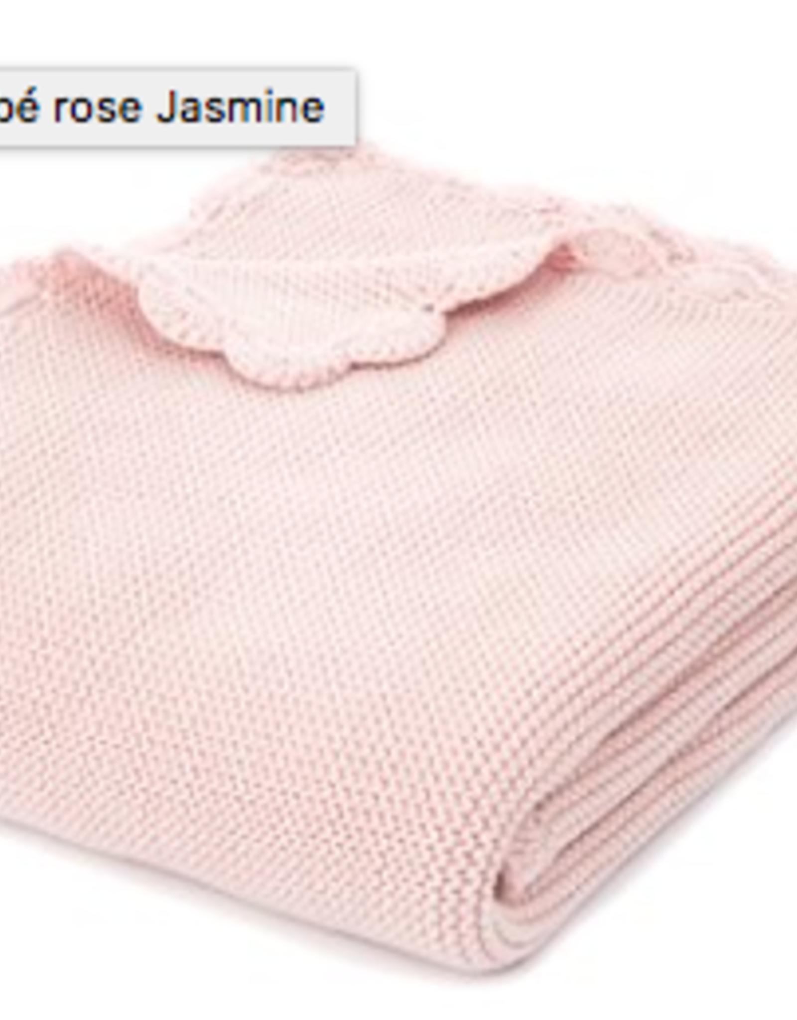 """Jasmine couverture rose bébé                  32"""" x 40"""""""