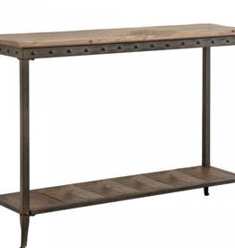 """Table console rectangulaire Trenton en pin vieilli 41"""" x 6"""" x 15"""""""
