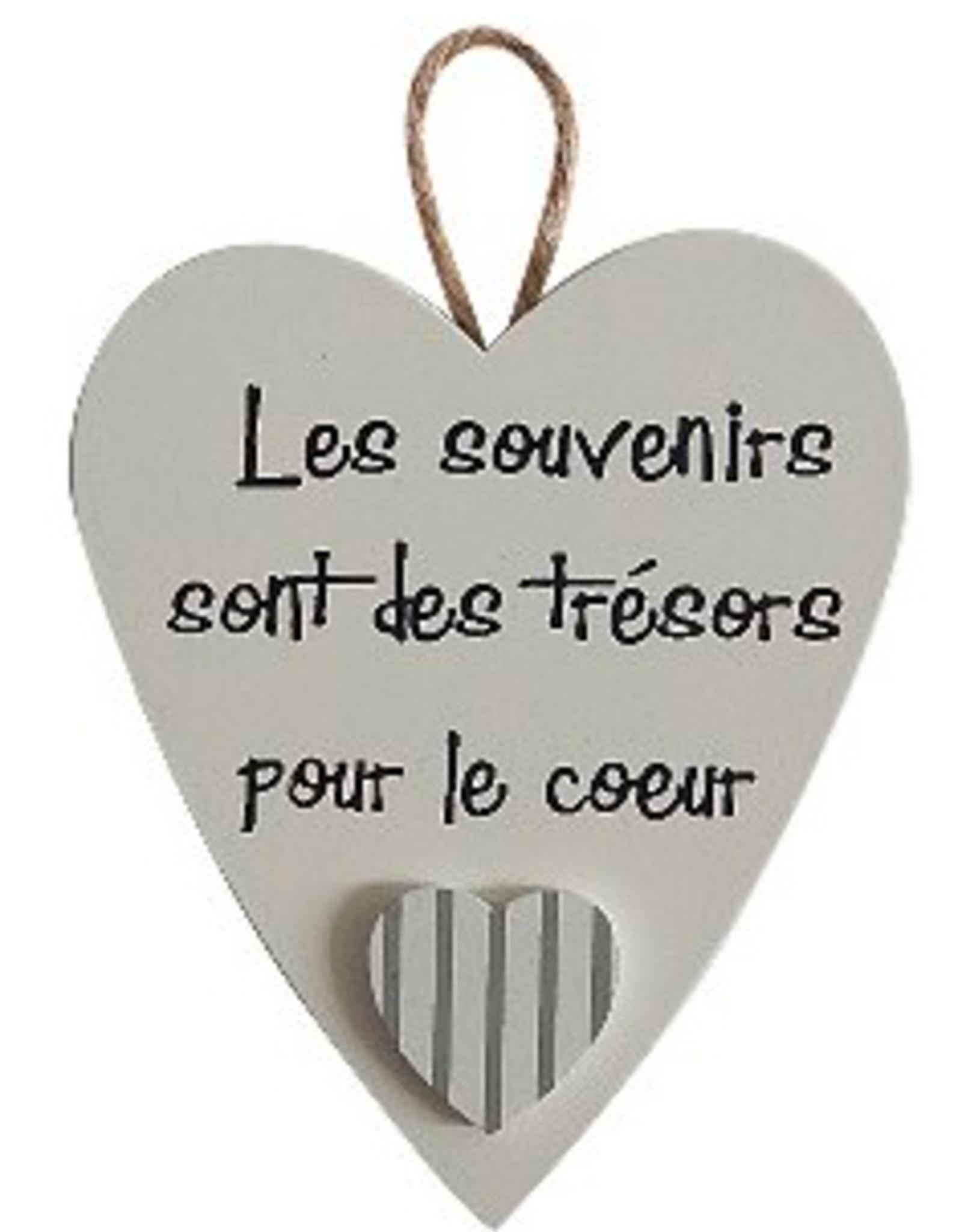 """Déco coeur 3"""" Les souvenirs sont des trésors pour le coeur"""
