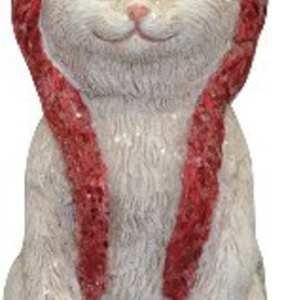 """Décoration de Noël Chat tuque rouge 3.5"""""""