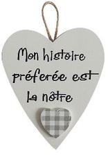 """Décoration de Noël Coeur 3.5"""" Mon histoire préferée est la nôtre"""