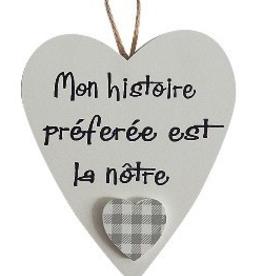 """Coeur 3.5"""" Mon histoire préferée est la nôtre"""