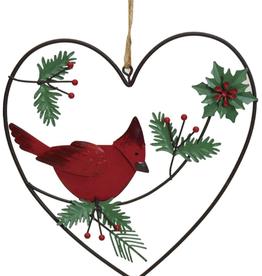 """Décoration de Noël Coeur avec oiseau 6"""""""