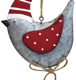"""Décoration de Noël oiseau métal 5"""""""