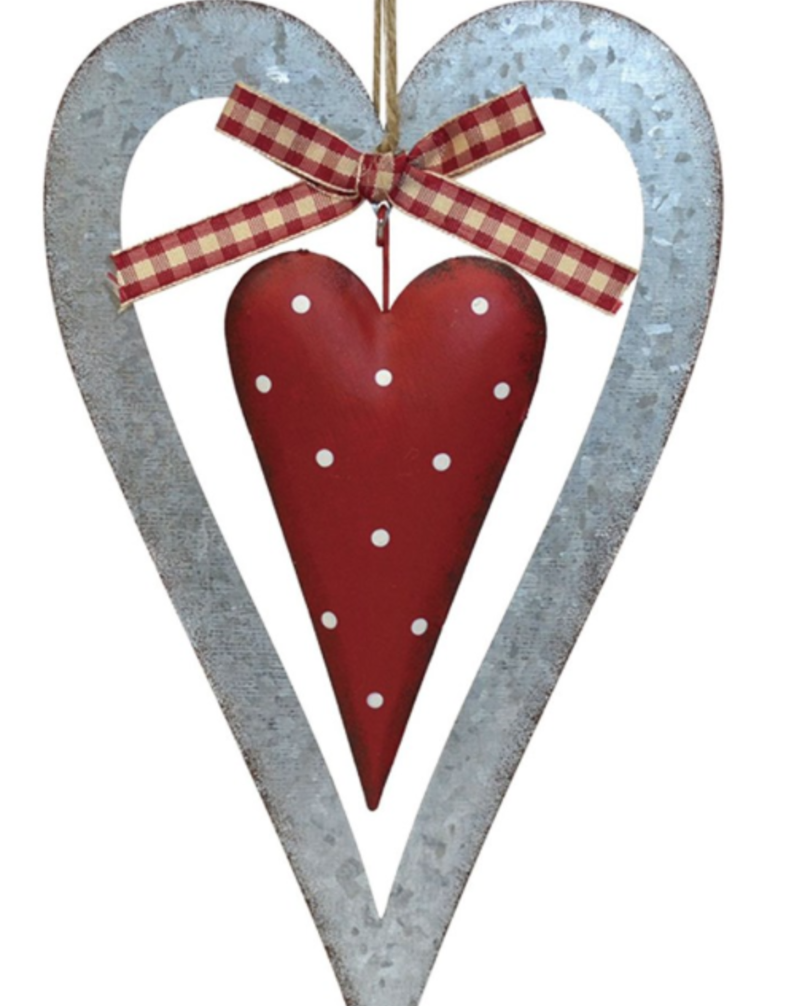 """Coeur en métal 8.5"""""""