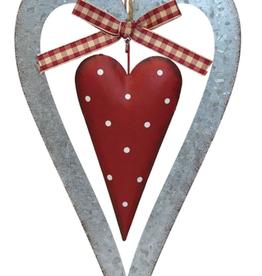 """Décoration de Noël Coeur en métal 8.5"""""""