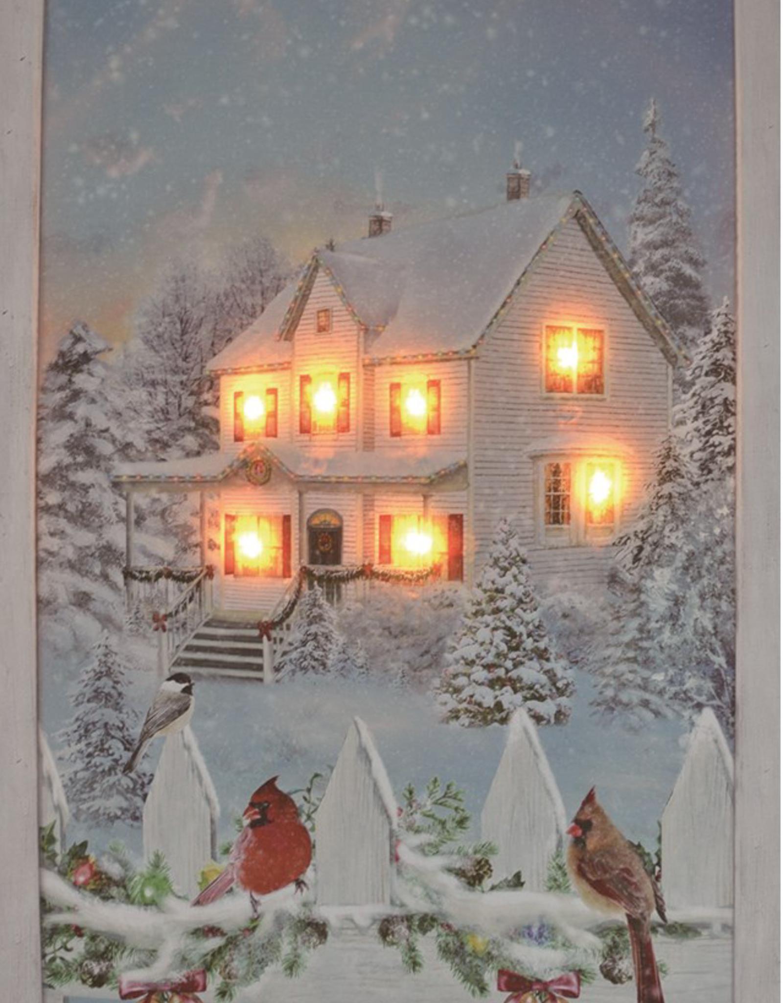 "Toile DEL Maison illuminée 16"" x 24"""