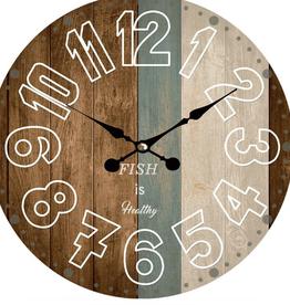 "Horloge ""Fish is Heatthy"" 13"""