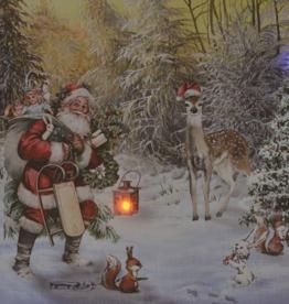 """Toile DEL Père de Noël 24"""" x 16"""""""