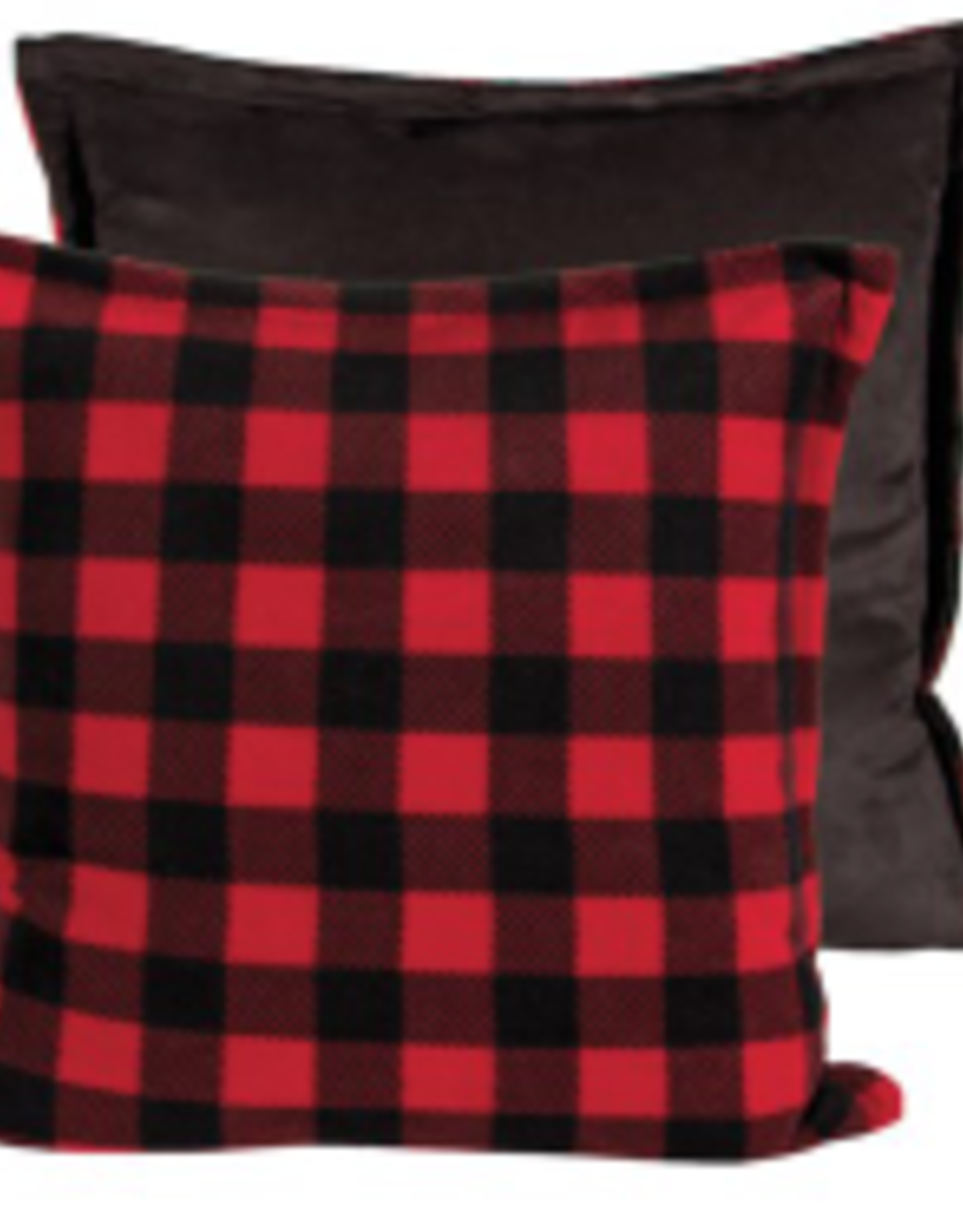 Coussin rouge et noir 20 x20