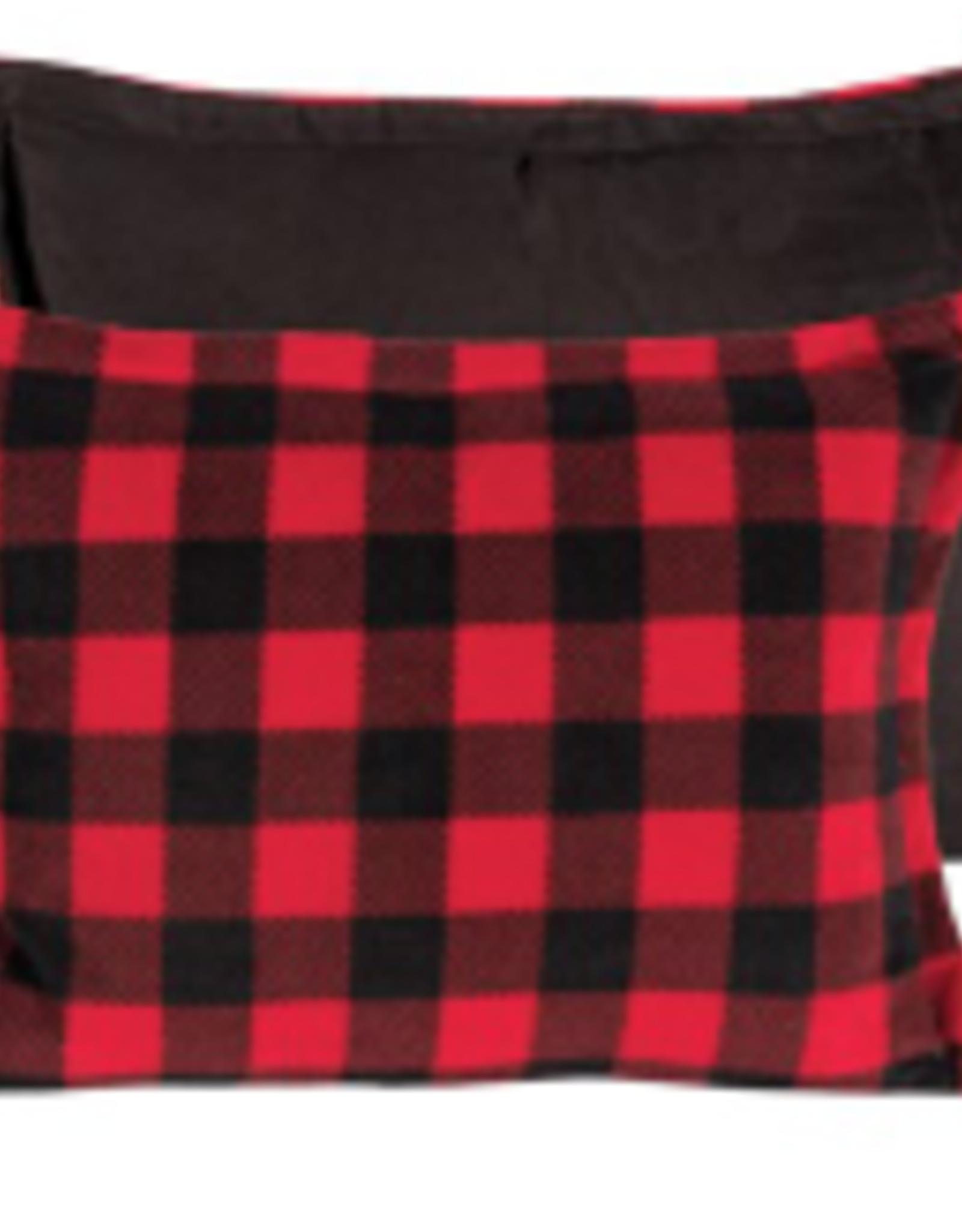 Coussin rouge et noir 14 x 24