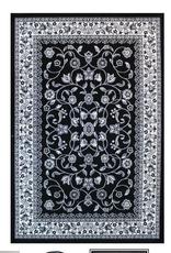 Tapis blanc et noir 100 X 140 cm