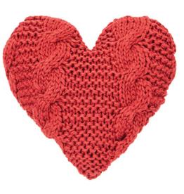 Coussin coeur cinnamon 16'' x 16''