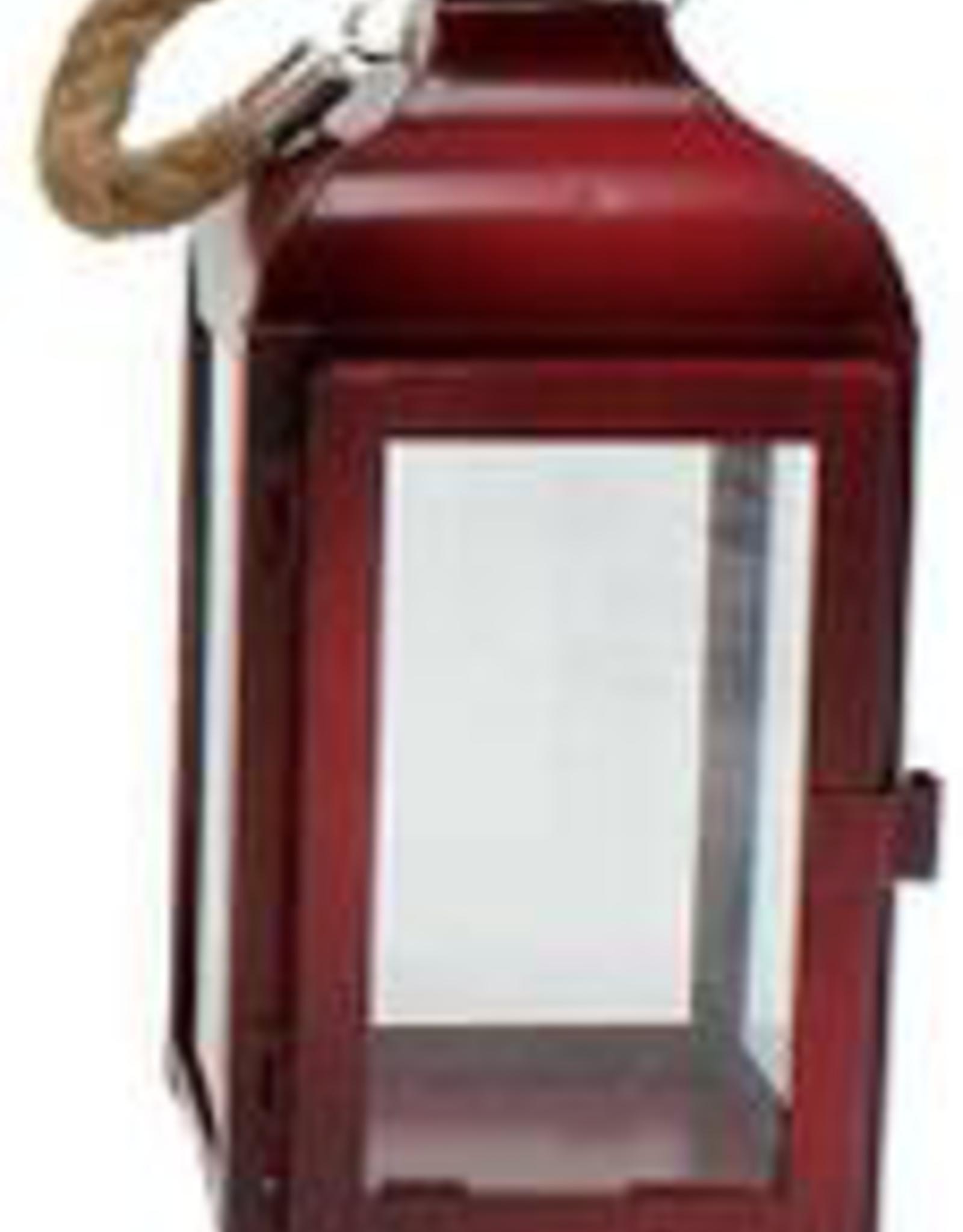 """Petite lanterne rouge en metal 8"""""""