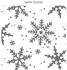 """Nappe Flocon 60"""" x 108""""                8-10 personnes"""