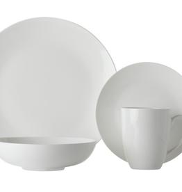 Service de vaisselle blanc 16pcs